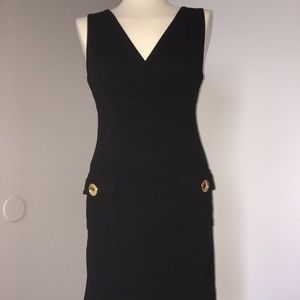 MICHAEL KORS Black Dress with Gold Buttons